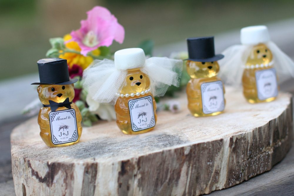 Wedding Bear Guest Favors For Leap Year Wedding. Personalized Favor Year, Honey Favors