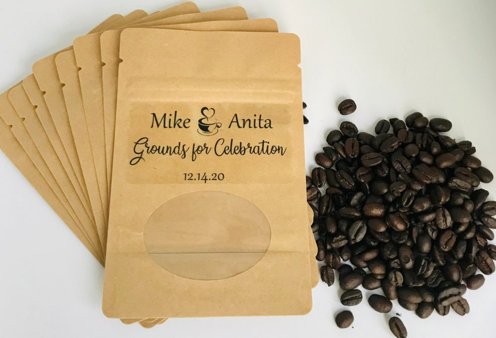 Coffee Pouch Wedding Favor | Personalized Bag Favors Grounds For Celebration
