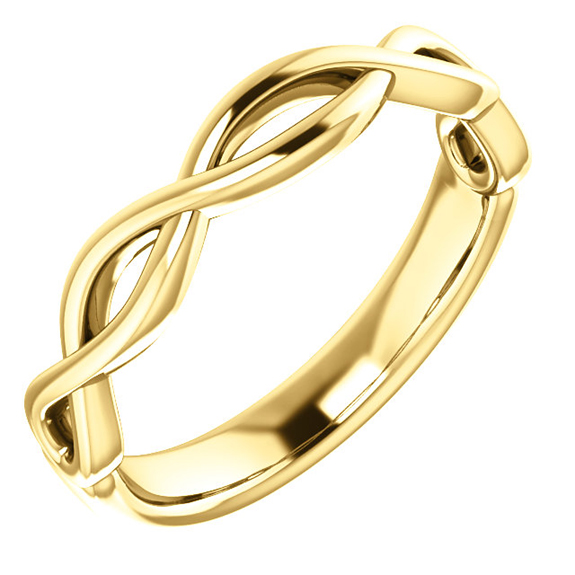 Infinity Wedding Band Ring for Women in 14K Gold