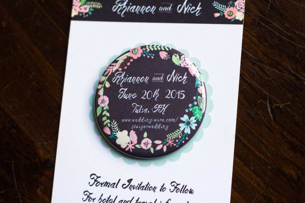 Floral Chalkboard, Save The Date Magnet, Wedding Invitation, Rustic Invite, Country Chic, Cute Fridge Pink Flowers