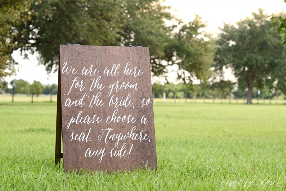 Choose A Seat Not Side Sign, Pick Wedding Sit Anywhere Seating Entrance Sign
