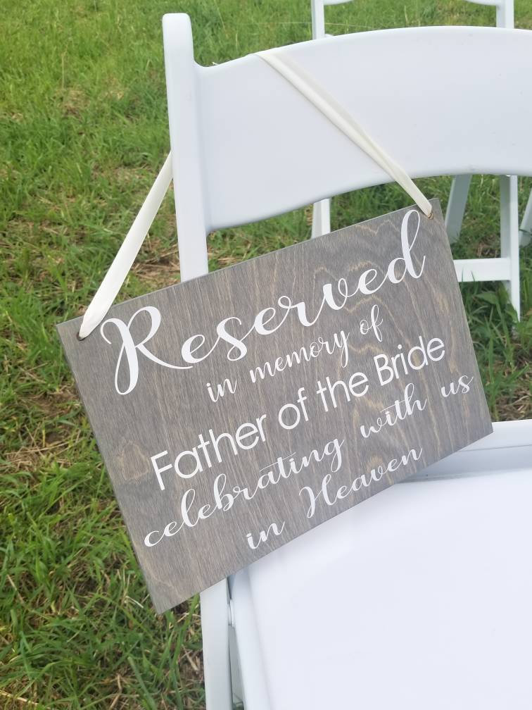 Reserved in Memory Of Sign, Wedding Decor, Sign