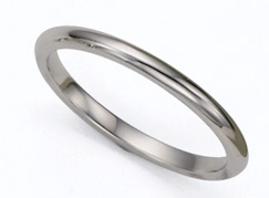 2mm Platinum Plain Wedding Band Ring
