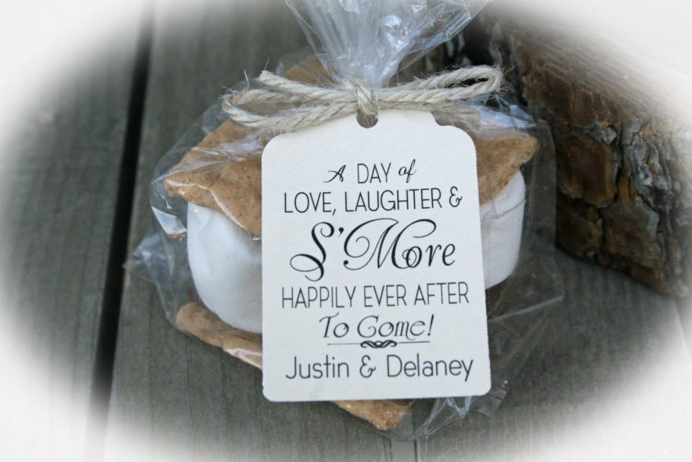 S'more Wedding Favor Kits-3 Tag Colors |Tags Only Or Diy Bags/Tags /Ties-S'more Love Favors |Smore Wedding Favor
