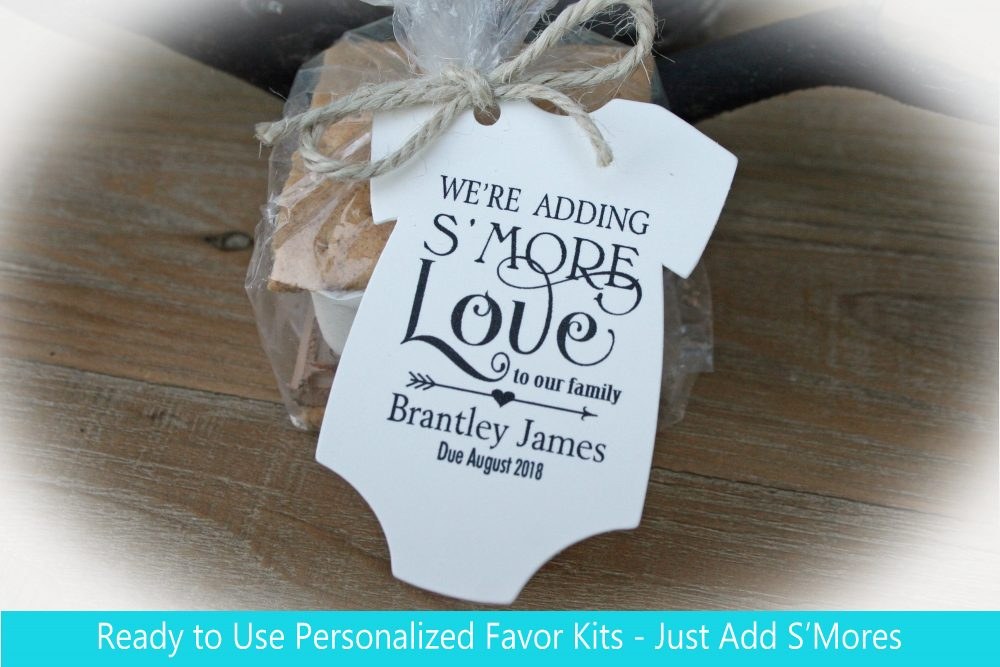 We're Adding S'more Love To Our Family Baby Shower Favor Kits | Tags Smore's Shower Favors Smore