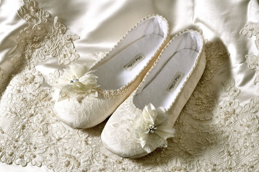 Wedding Bridal Shoes/Handmade Custom Fit Flats, Victoria Ballet Vintage Lace/Women's Shoe, Free Shipping Pink2Blue