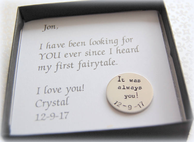 Groom Gift From Bride With Wedding Date, It Was Always You, Unique To Groom, Today Until Forever Coin