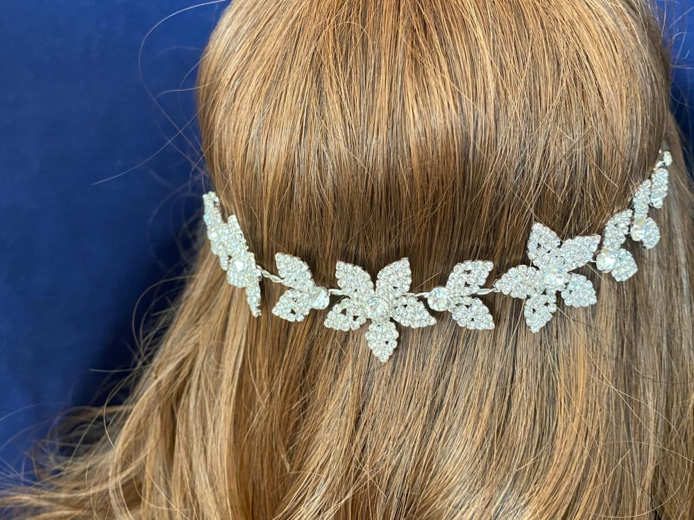 Wedding Hair Band Silver Crystal Hair Band Accessories Quinceanera