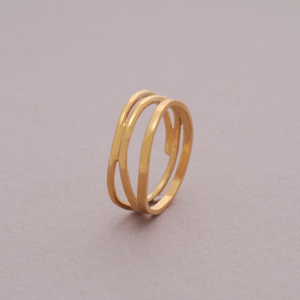 Modern Wedding Band Ring, 7mm Width Plated Gold Silver Unisex Engagement Promise Ring For Her Or Him, Single Band, De20