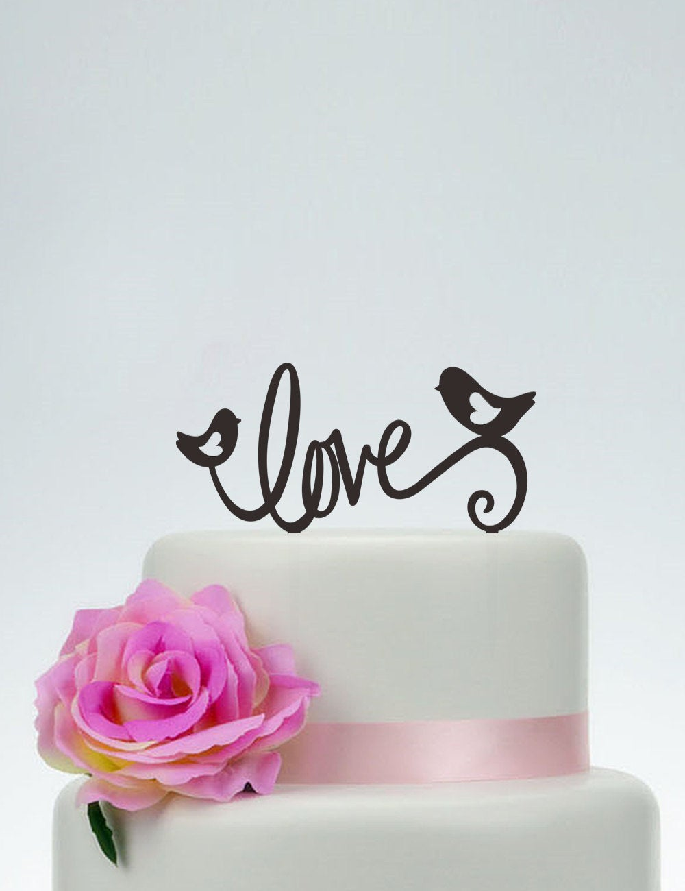 Love Cake Topper, Love Birds Topper, Wedding Topper, Personalized Decoration, Custom Topper P125