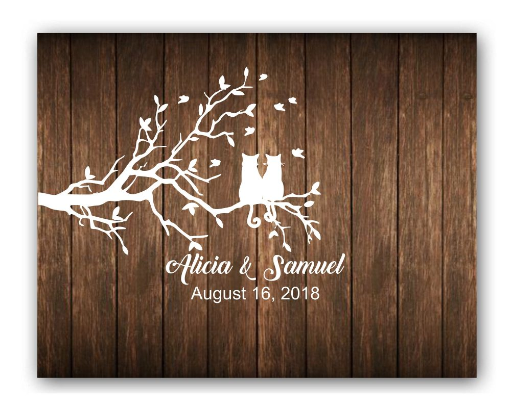 Rustic Wood Pallet Cat Wedding Welcome Sign Guest Book Alternative Guestbook Custom #ws-07250