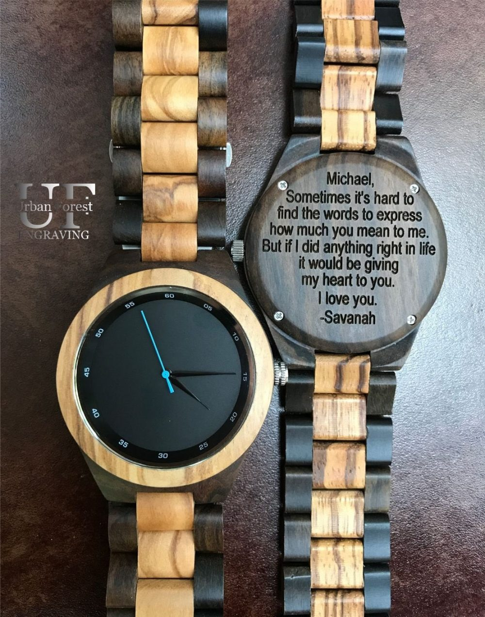 Bride To Groom Gift, Gifts For Men Personalized Watch Mens Watch, Him Husband Gift Wooden Anniversary Boyfriend
