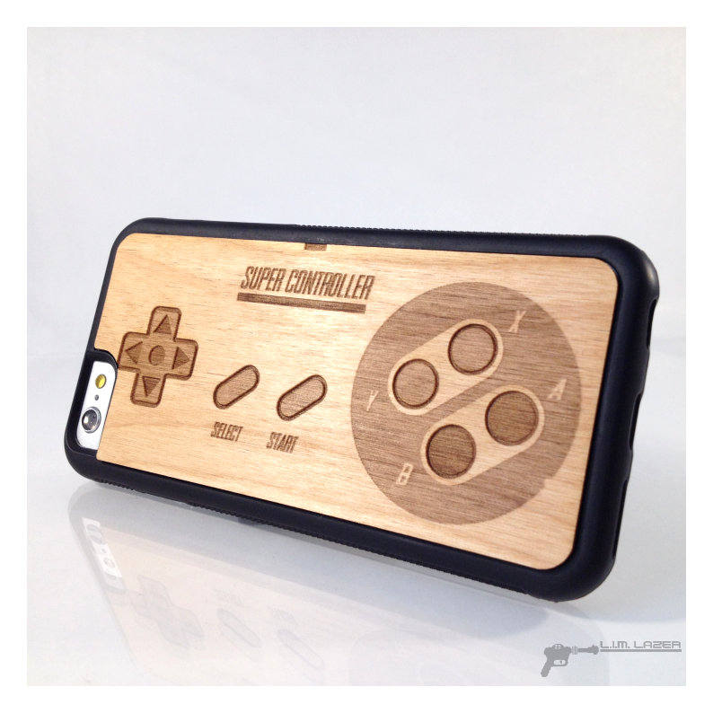 Cuomizable Retro Game Controller Wood Phone Case For Iphone 7, Iphone 6, 5, Se, 5Th Year Anniversary, Anniversary