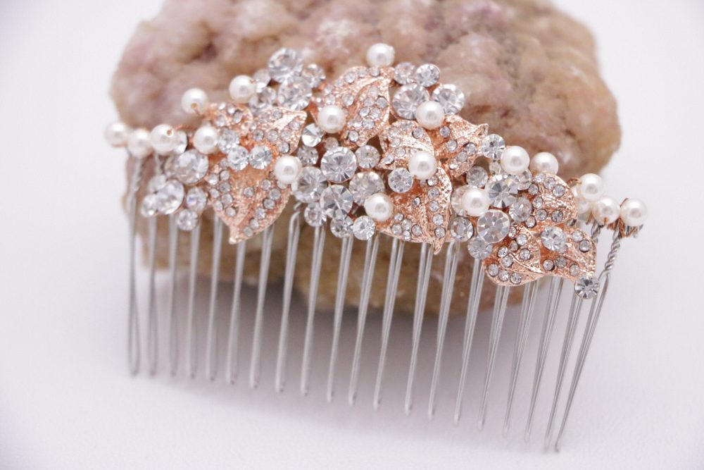 Wedding Hair Comb Crystal Wedding Accessories Floral Rhinestone Pins Jewelry Barrette Prom