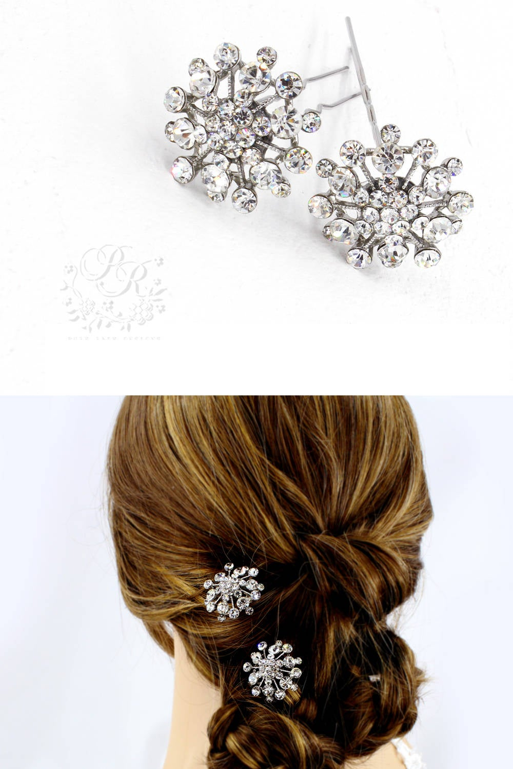 Weddings Hair Accessories Rhinestone Hair Pins Bridal Bridesmaid Crystal Comb Meteor