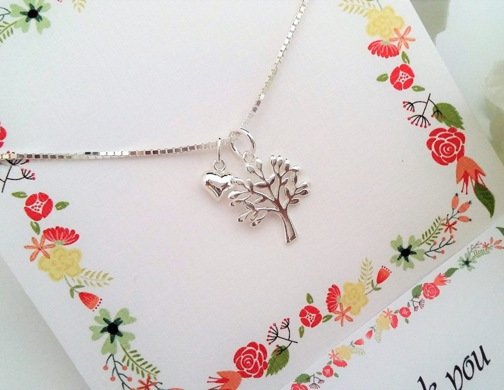 Mother Of The Groom Gift From Bride Tree Life Heart Necklace Wedding For Groom in Law