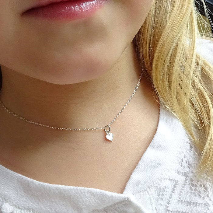 Tiny Heart Necklace, Gift For Flowergirl, Wedding Helper Gift, Daughter, Best Friends Necklace, Graduation Gift Daughter