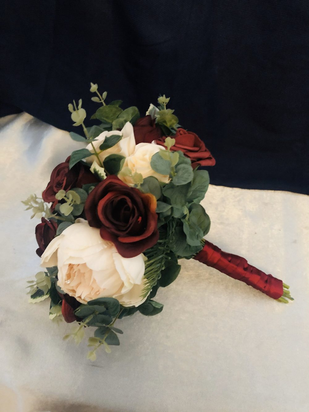 Fall Wedding Bouquet, Burgundy Ivory Bridesmaid Wedding Rustic Elegantarrangements8, Bouquet