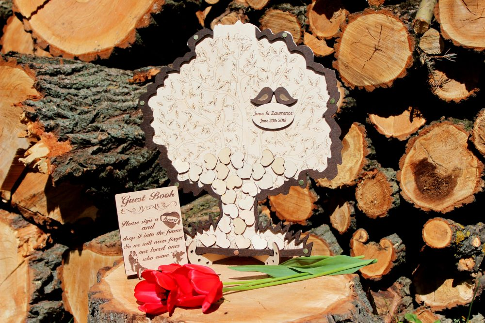 Wedding Guest Book Alternative Tree, Guest Wood, Wooden Hearts Book, Drop Box Book, Tree , Wedding Wooden Sign
