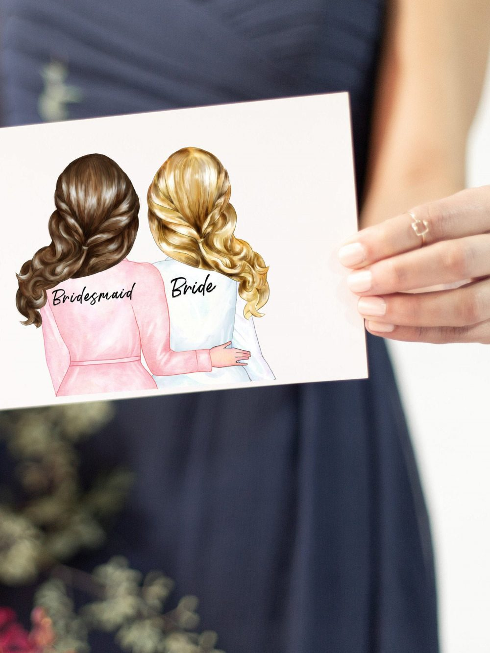 Bridesmaid Proposals Cards Asking Bridesmaids Be My Sister Of Honor Matron Proposal Personalized Custom Options Wedding Handcrafted