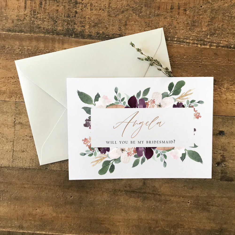 Bridesmaid Proposal Card | Personalized Maid Of Honor