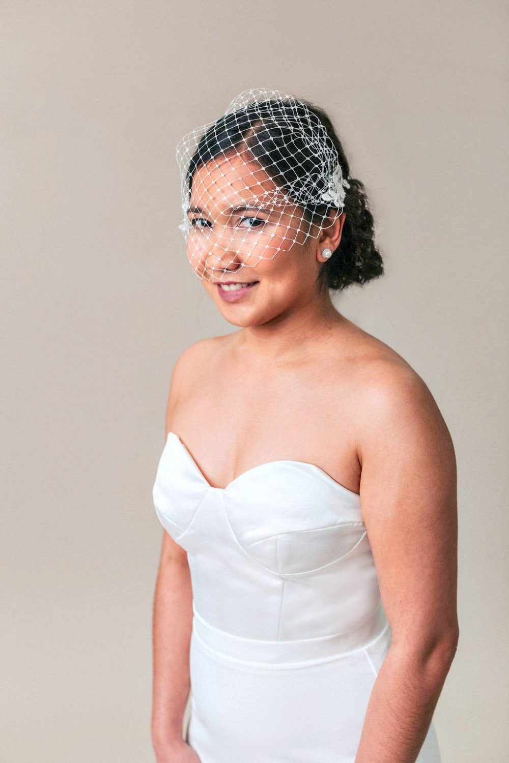 Birdcage Veil, Lace Short Wedding Blusher Veil