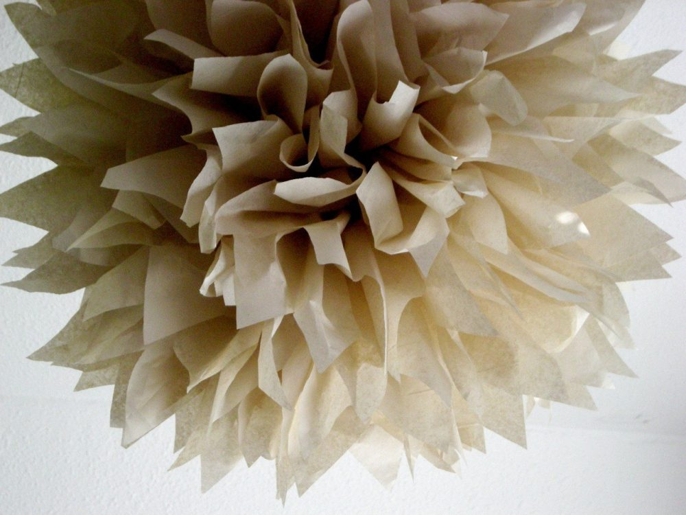 Sand Tissue Paper Pompom Rustic Theme Woodland Forest Wedding Decorations Autumn Fall Winter Baby Bridal Shower Neutral Taupe Tan Nursery