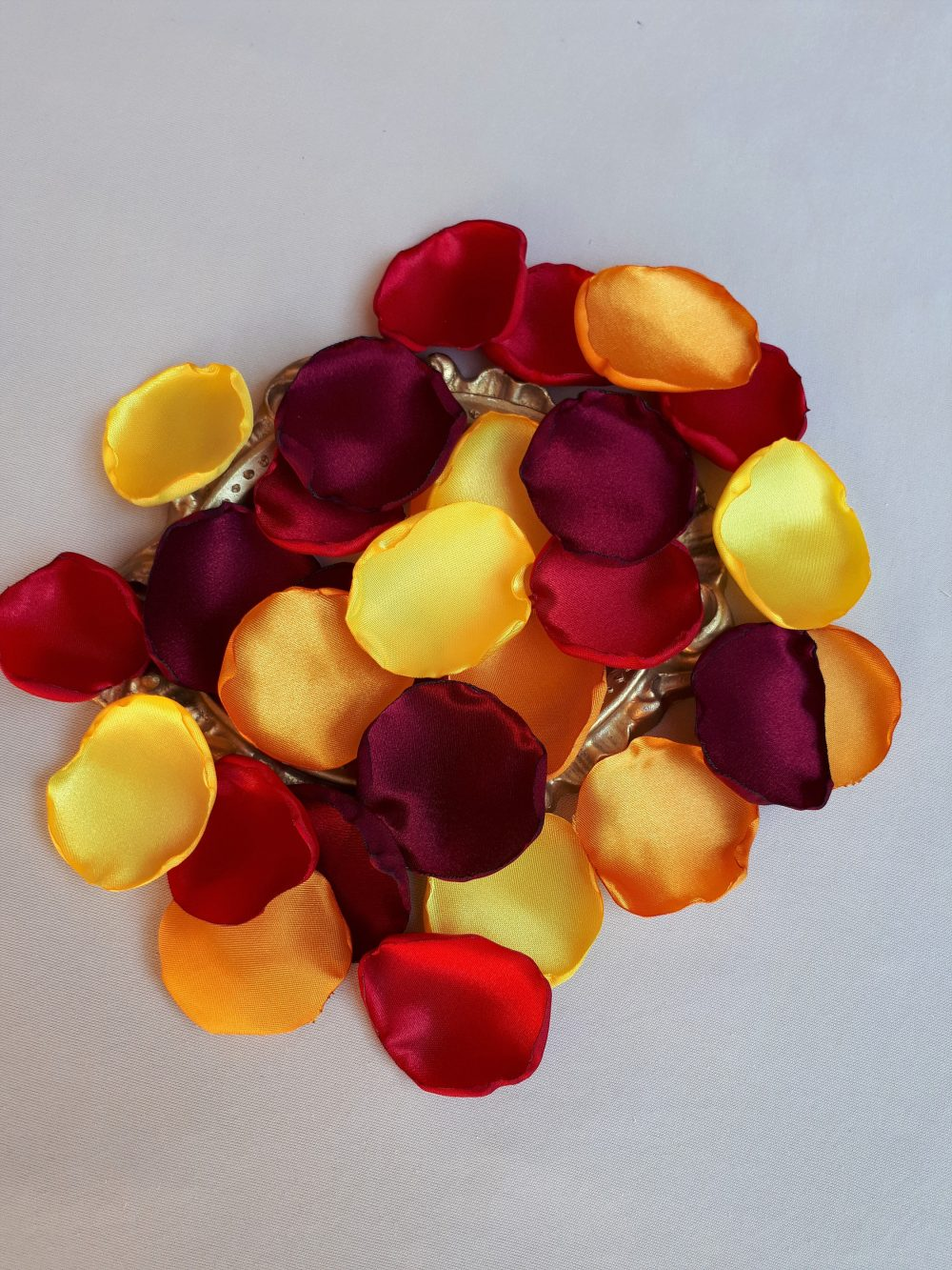New Burgundy Rose Petals Red Orange Flower Yellow Country Wedding Decor Barn Fall Autumn Colors