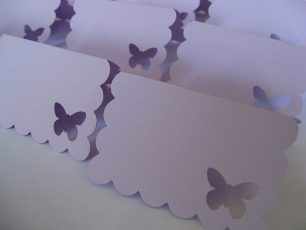 70 Butterfly Place Cards. Choose Your Colors. Lavender. Weddings, Escort, Table