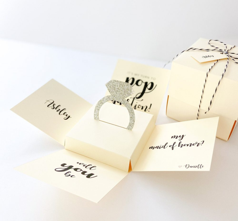 Bridesmaid Proposal Box, Proposal, Will You Be My Card, Unique Gift, Wedding Party Box