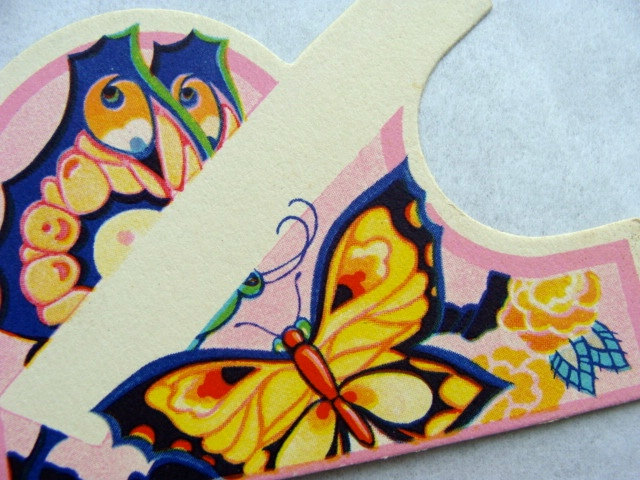 stunning Die Cut Antique Butterflies Place Card