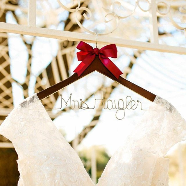 Bride Hanger, Wedding Bride Hanger Personalized, Rustic Wedding, Hangers, Bridal Gift, Bridesmaid Gift