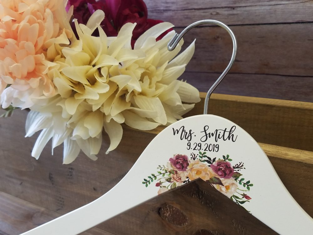 Personalized Wedding Dress Hangers For Bride, Bridesmaids & Flower Girl - Gift Or Girl, Shower