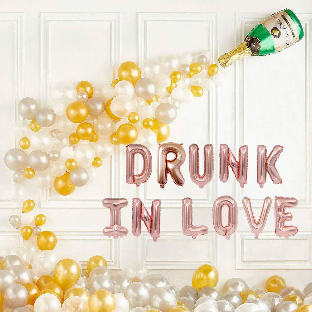 Drunk in Love With Champagne Balloon Decor, Engagement Party Decorations, Pop The Bubbly, Brunch & Bubbly Bridal Shower Decor