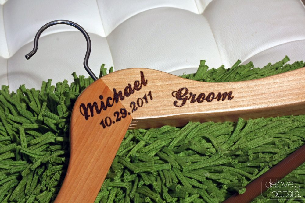 Customized/Personalized Coat Hanger For Groom's Tux/Suit - Wooden