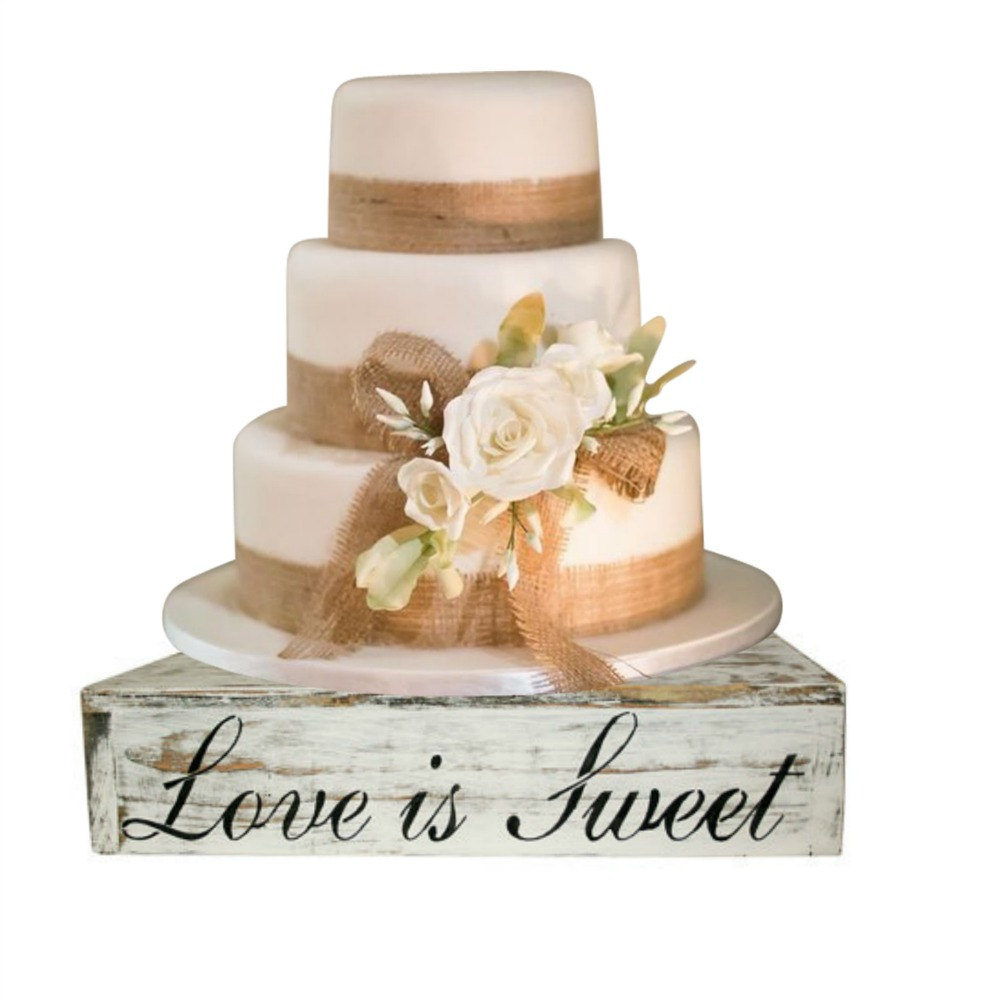 Rustic Wood Cake Cupcake Stand Box Country Wedding Solid Beach Candy Bar