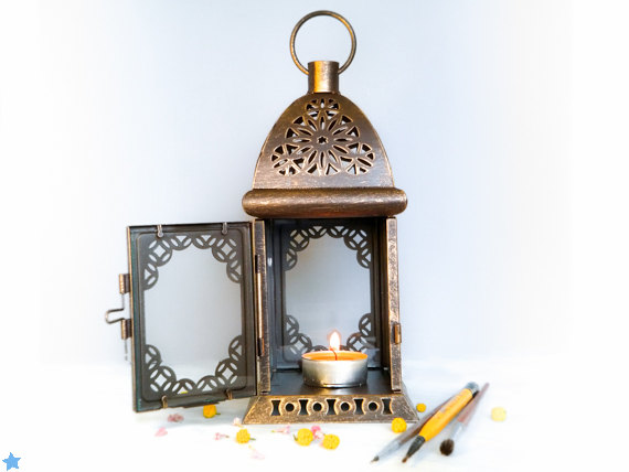 Rustic Lantern Wedding Set, Centerpieces, Decorations For Table, Moroccan Bridesmaids Gift