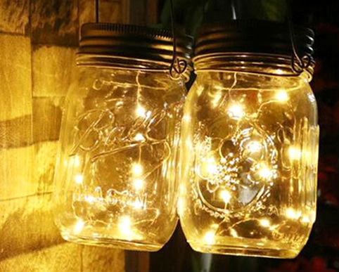 Fairy Light Jars Mason Jar Lights Wedding Rustic Lantern Firelfly Vintage Hanging Lights Party Deocration String