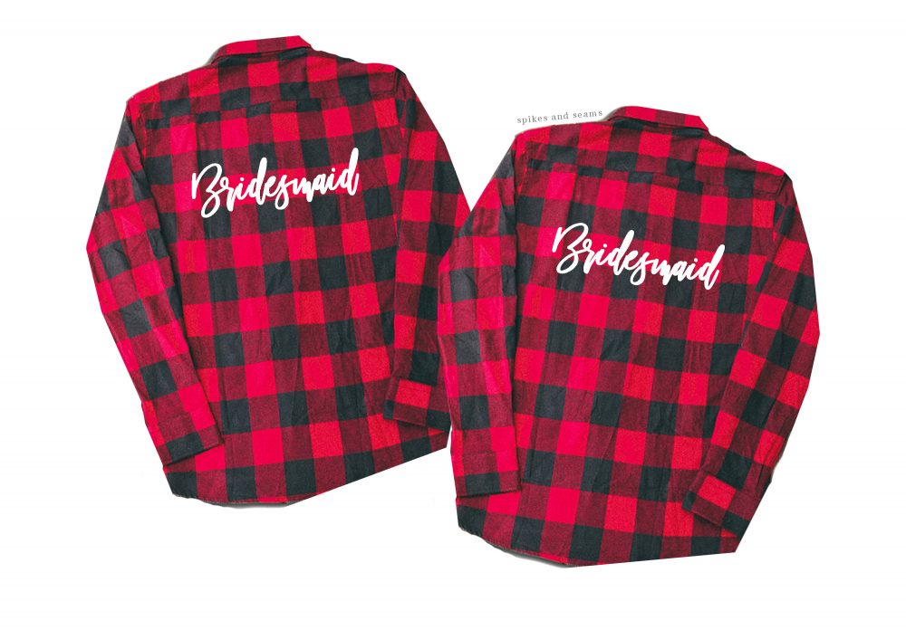 Bridesmaid Flannel, Shirt, Wedding Wedding, Gifts, Custom Bachelorette Party, Country