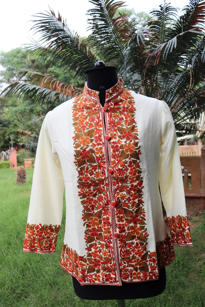 Indian Tailorised Jacket, Short Shirt Jacket, Coats For Woman, Woolen Jackets, Embroidered Coat, Wedding Clothing, Party Wear Clothing