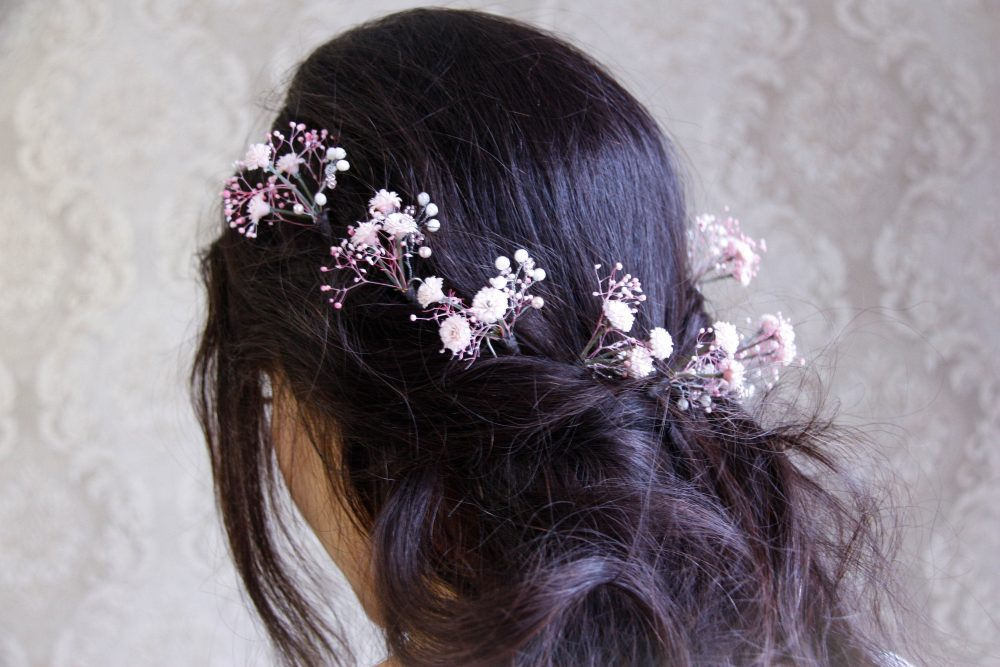 Flower Hair Pins, Wedding Pink Pin, Pin Wedding, Baby Breath Pins Flower, Accessories