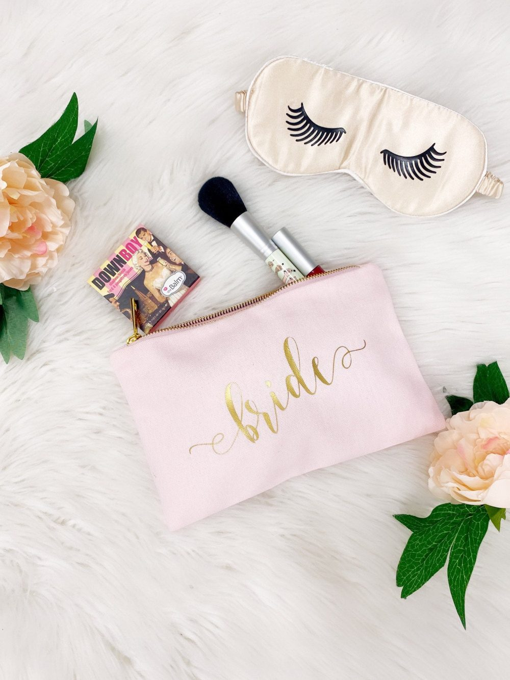 Bridesmaid Personalized Gifts, Wedding Make Up Bag, Gift For Her, Canvas Makeup Bag, Name Bags, Customized Bag