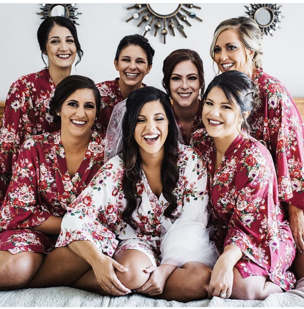 Sale Bridesmaid Robe, Gift, Robes, Floral Kimono Wedding Robe, Discount For Multi Orders/Please Message Us