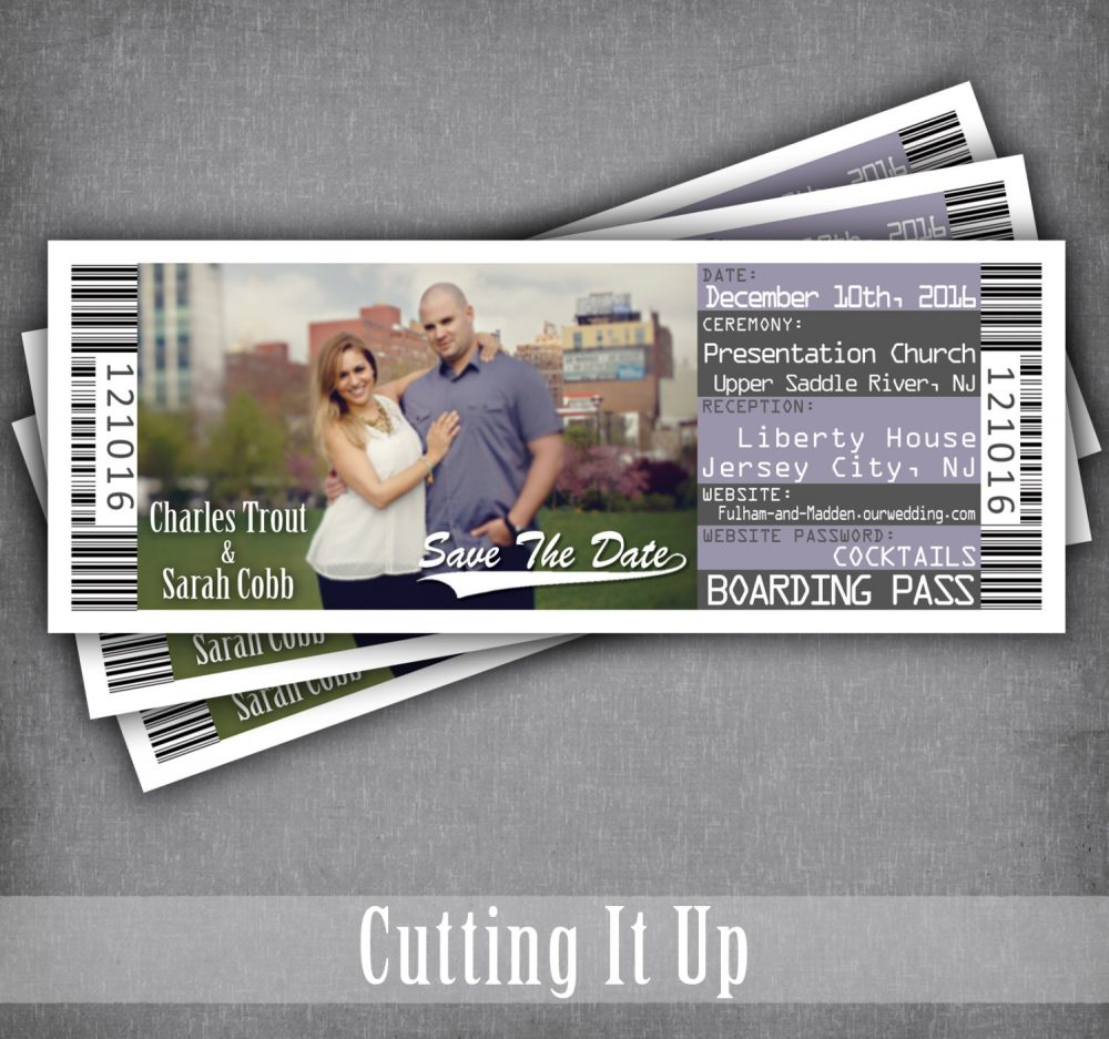 Destination Wedding Save The Date Boarding Pass Ticket Magnet/Travel Theme Invitation Tickets Yacht Cruise Ship Invite Template