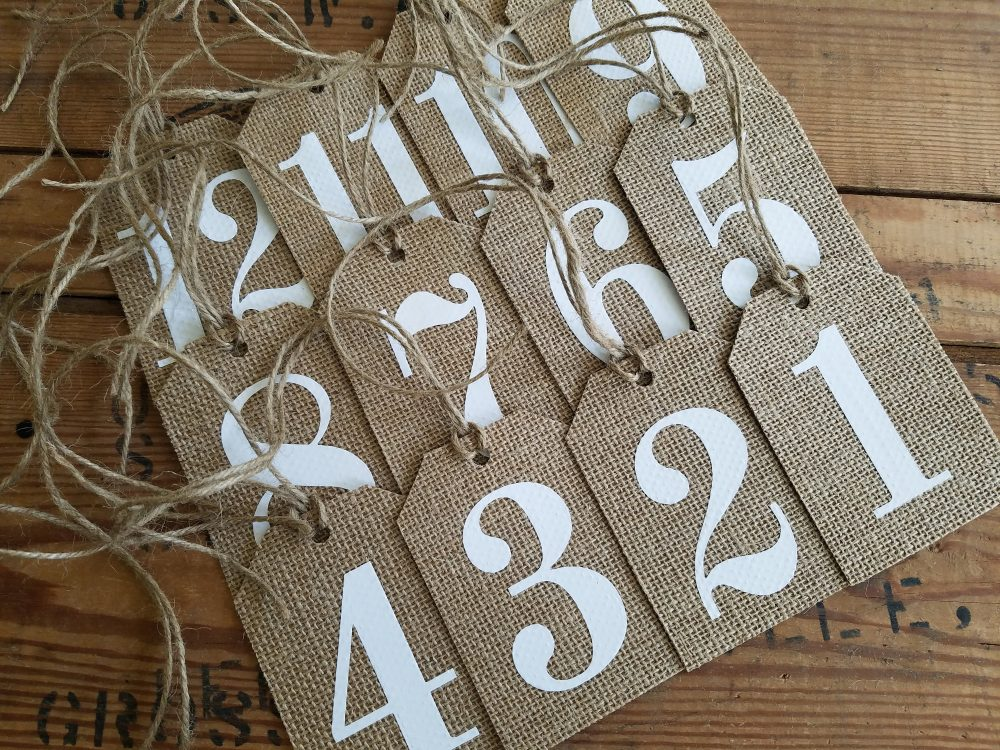 Rustic Burlap Table Numbers Burlap Numbers Tags Mason Jar Number Tag Rustic Wedding Wine Centerpiece