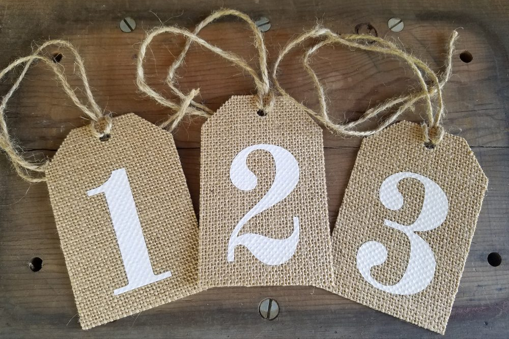 Rustic Burlap Table Numbers, Burlap Numbers, Tags, Mason Jar Tag, Number Rustic Wedding Wine Centerpiece