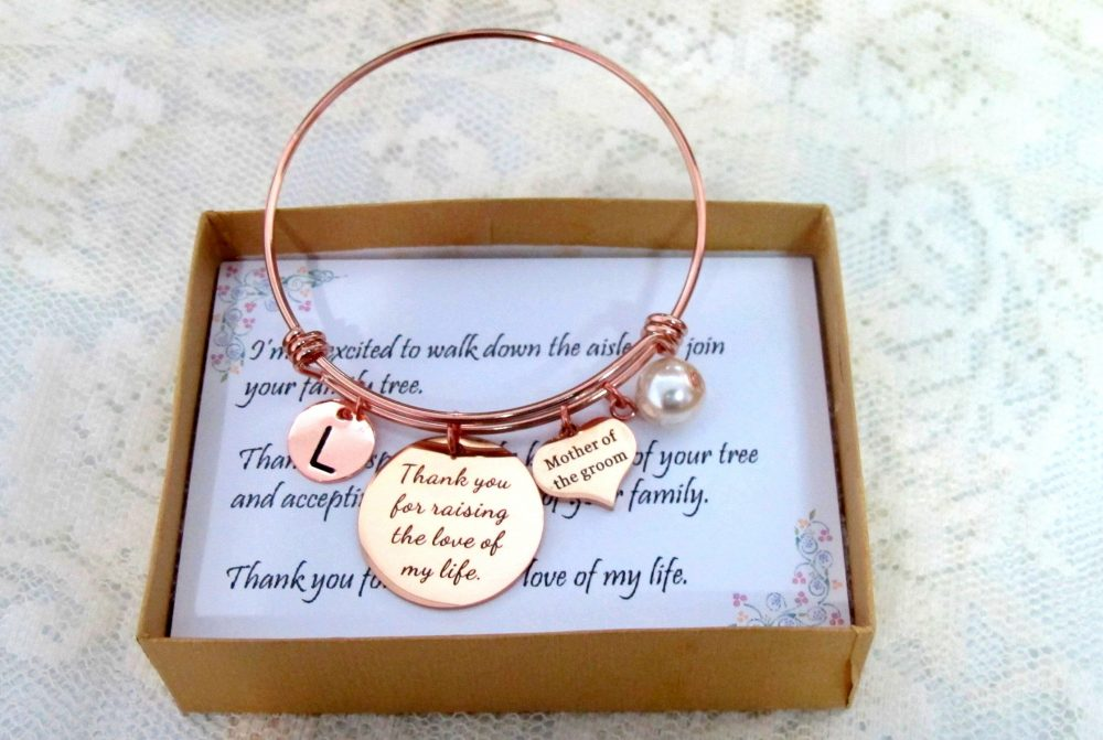 Mother Of Groom Wedding Gift, Mother in Law Bangle Jewelry, Gift From Bride, The Bride Gift, , Wedding Gift, Rehearsal Dinner Presents