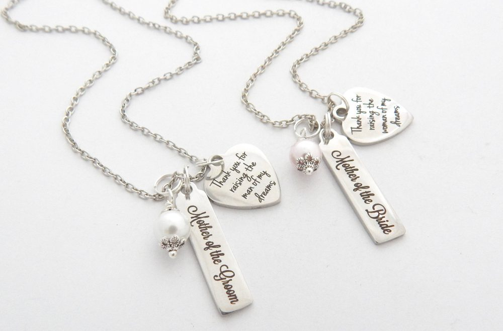 Personalized Wedding Necklace-Mother Of Groom The Bride Necklace - Necklace-Gift From Son-Gift Daughter-Mob