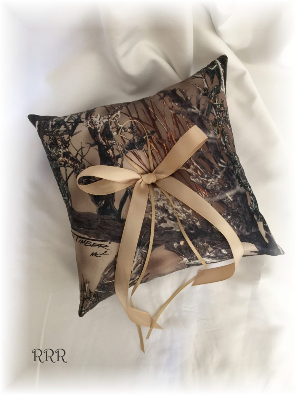 True Timber Wedding Ring Bearer Pillow, Hunting Theme Camouflage Pillow