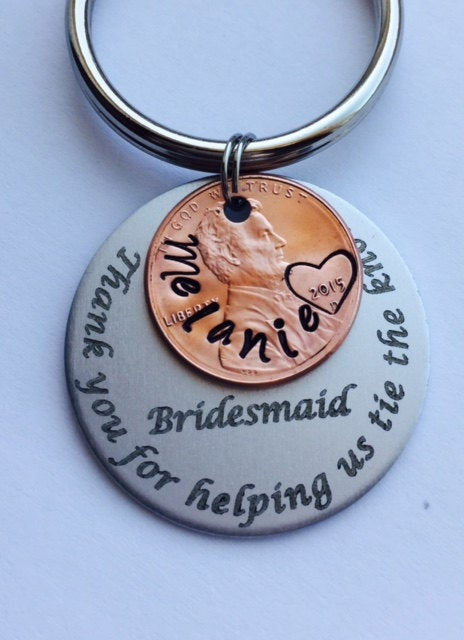 Wedding, Bridesmaid Gift. Wedding Party Gifts & Thank You's Stamped Penny For Bridesmaids, Groomsmen, Best Man, Maid Of Honor